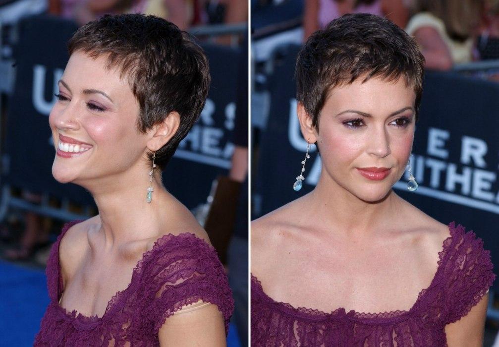 Alyssa Milano S Pixie Very Short Haircut To Keep The