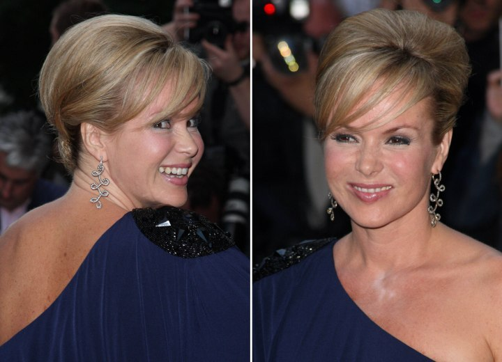 Side view of Amanda Holden's updo