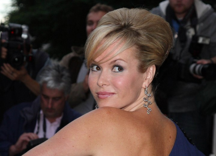 Amanda Holden - Updo with height on top of the head