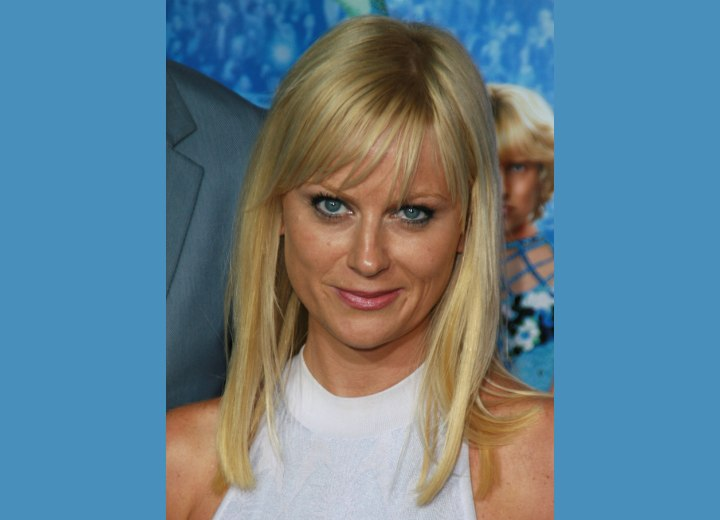 Amy Poehler with long blunt cut hair