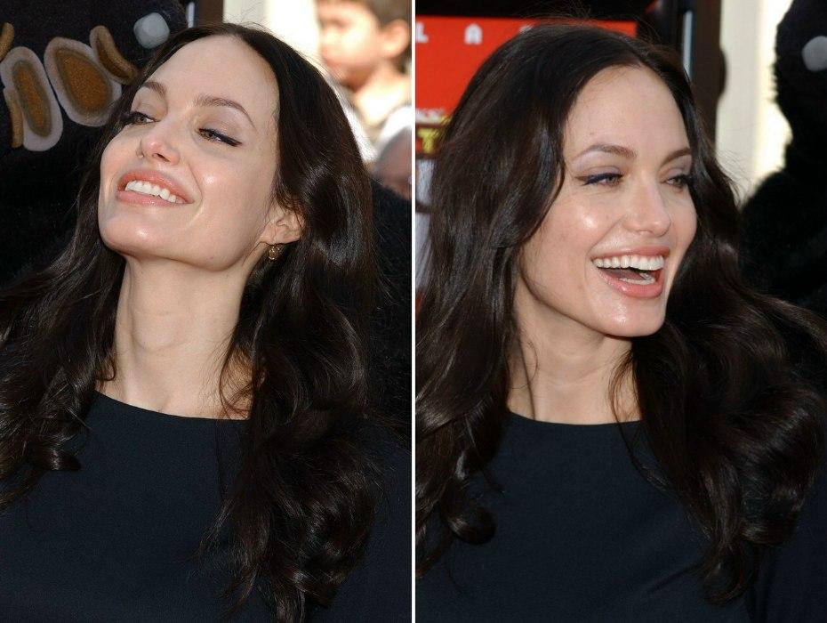 Angelina Jolie S Dark Long Below The Shoulders Hairstyle