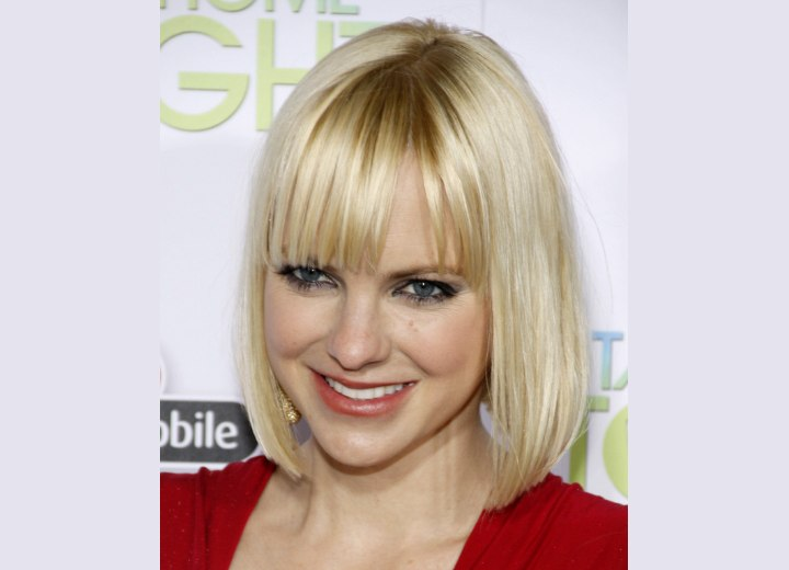 Anna Faris with short hair
