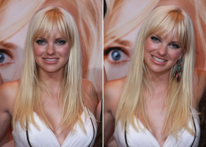 Anna Faris - Youthful long hairstyle with long bangs
