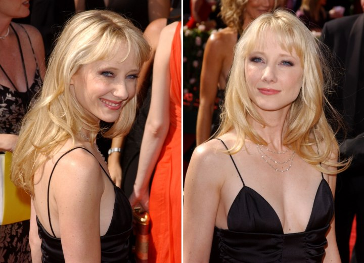 Back view photo showing Anne Heche's hair length