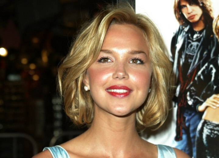 Arielle Kebbel with medium length hair