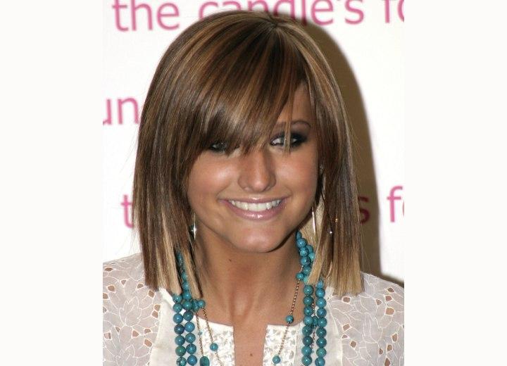 ashlee simpson new hair