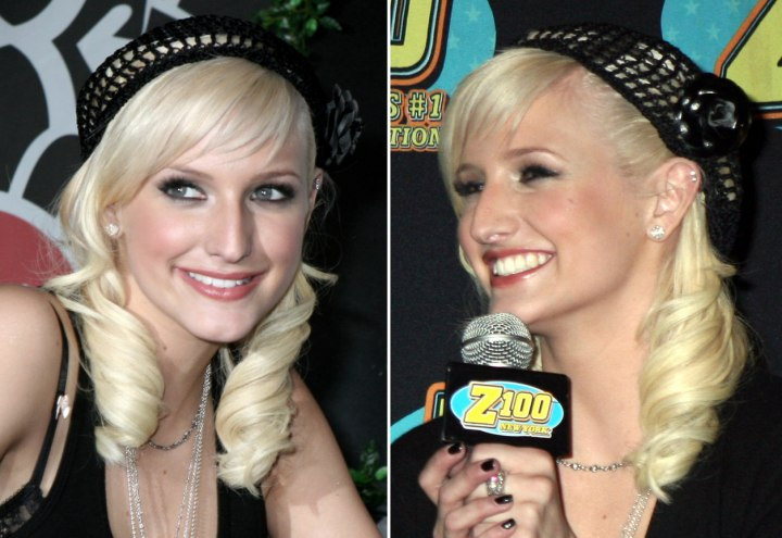Ashlee Simpson - 1940's curled hairstyle