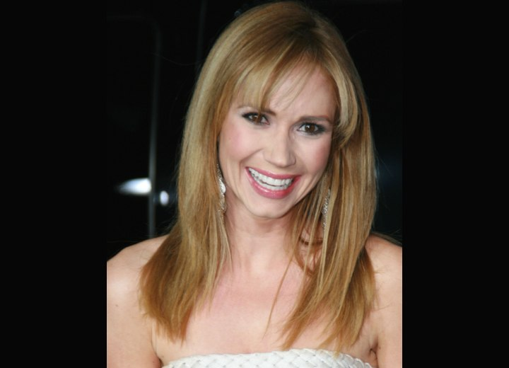 Ashley Jones - Long hairstyle with thinned out bangs