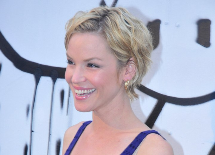 Ashley Scott - Very short layered hairstyle