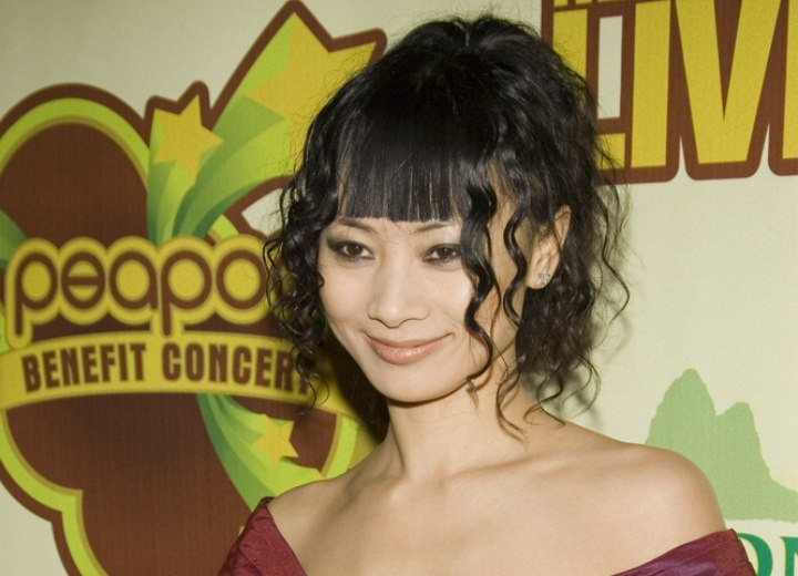 Bai Ling - Feminine and hip up style with curls