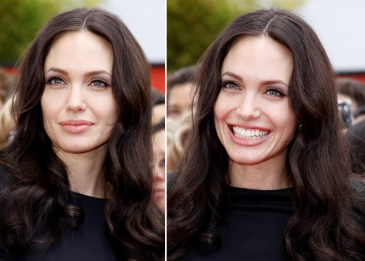 Angelina Jolie - Below the shoulders hairstyle