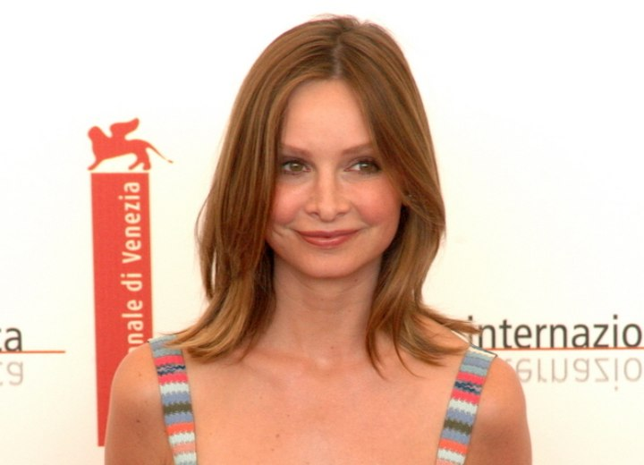 Calista Flockhart with natural looking hair