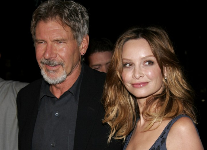 Calista Flockhart - Long hairstyle with semi round curls