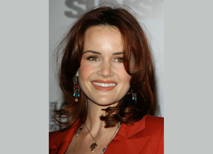 Carla Gugino - Hairstyle for a wide forehead