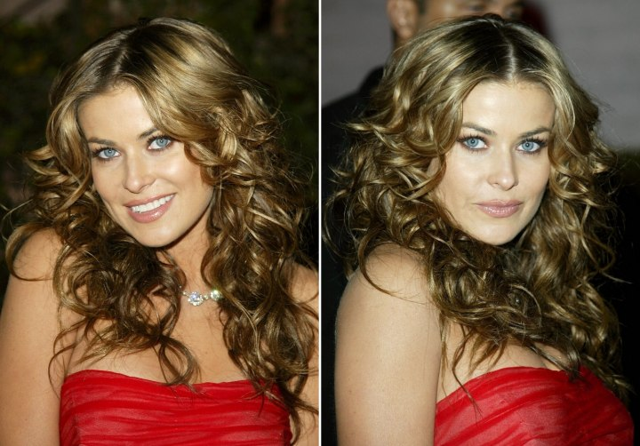 Carmen Electra Wedding Pics. Carmen Electra with hair