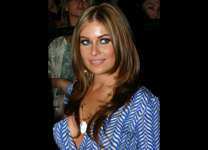 Carmen Electra with dark brown hair