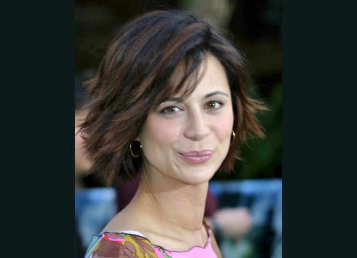 Catherine Bell - Middle of the neck bob haircut