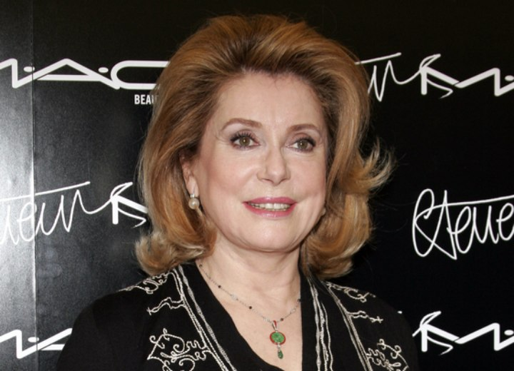 Catherine Deneuve - Hairstyle for a 60 plus woman
