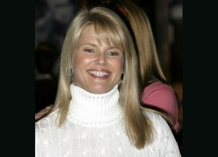 Christie Brinkley - Long hairstyle to accommodate and active lifstyle