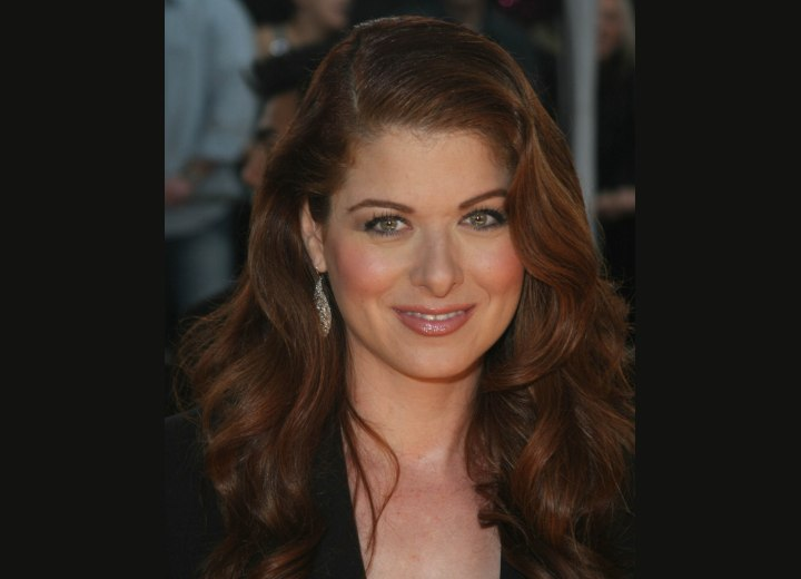 Debra Messing wearing her long hair down
