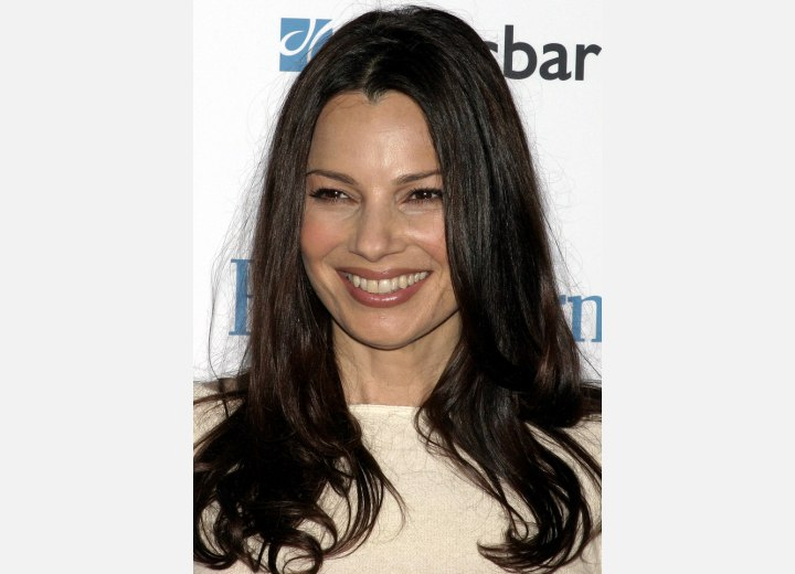 Fran Drescher - Long hairstyle with curls below the shoulders