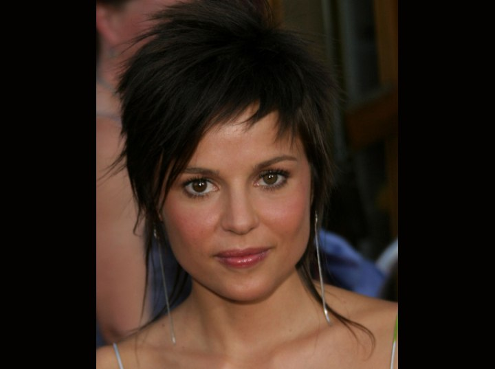 Elena Anaya - Short hairstyle with hair pointing up