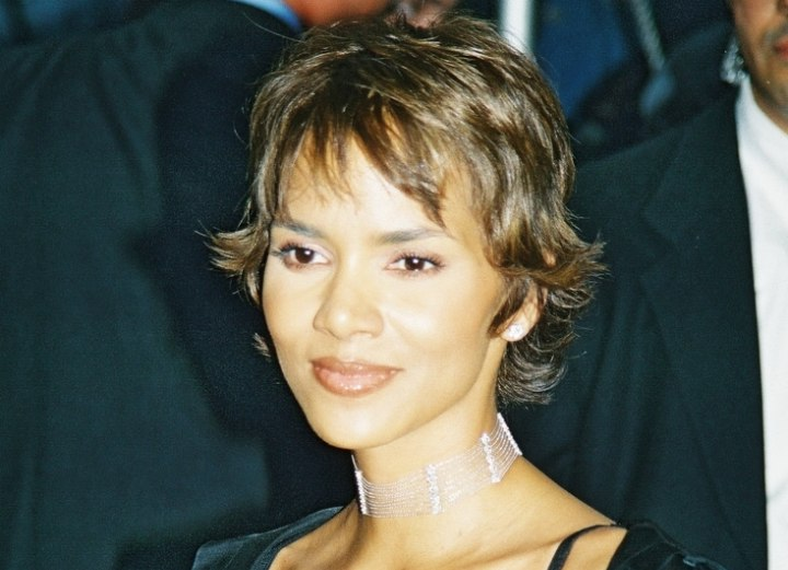 Halle Berry with short hair