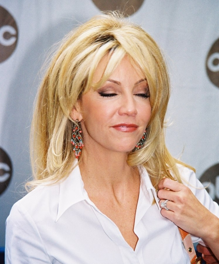 Swell Heather Locklear Long Hairstyle With Layers That Lay Over The Short Hairstyles Gunalazisus