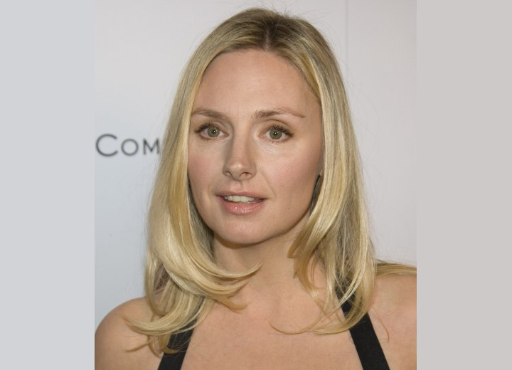 Hope Davis with silky shoulderlength hair