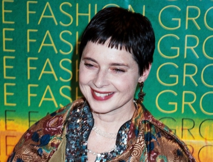 Isabella Rossellini's very short hairstyle