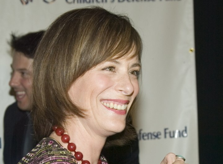 Jane Kaczmarek wearing her hair in a bob