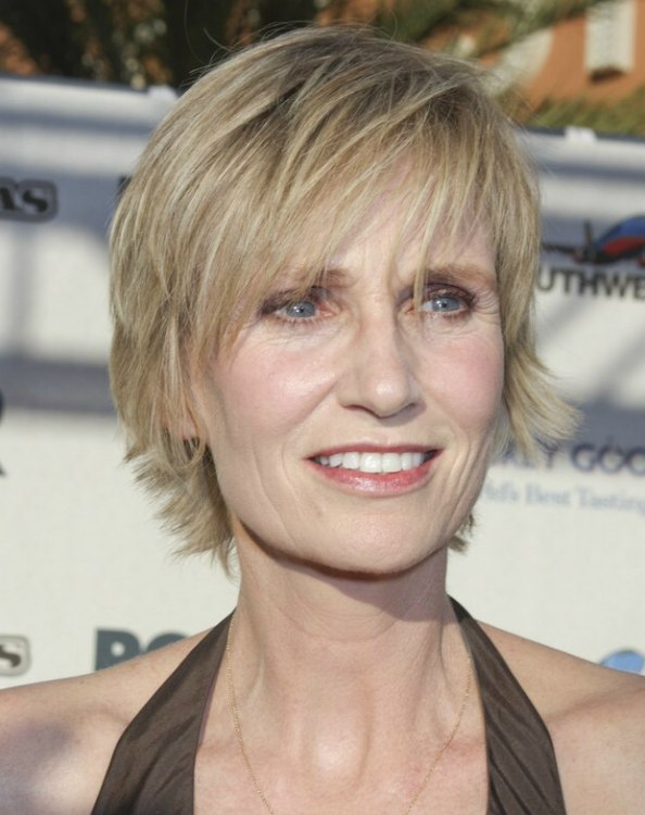 Jane Lynch Easy Short Hairstyle That Can Be Washed