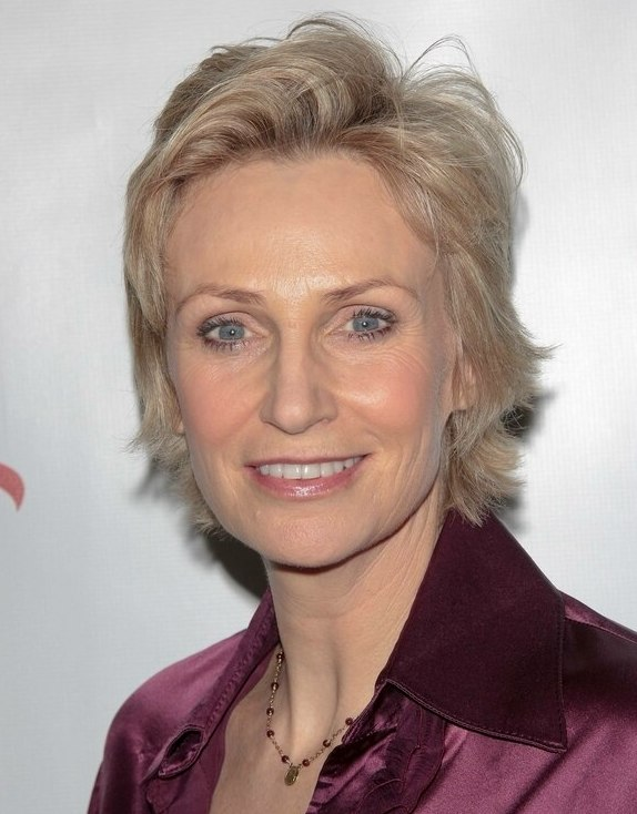 Jane Lynch Short Hairstyle With High Volume Styling To