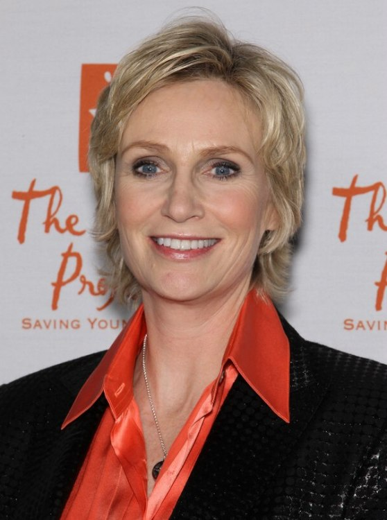 Jane Lynch Easy To Wear Short Hairstyle For Someone Who