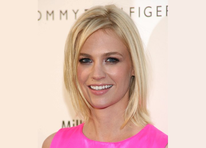 January Jones - Medium length straight hairstyle