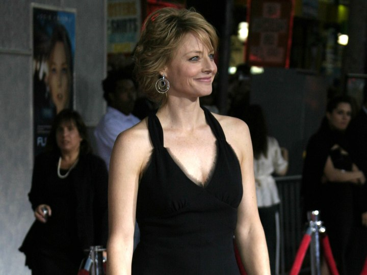 Jodie Foster wearing a little black dress