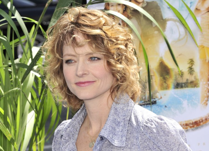 Jodie Foster with curls