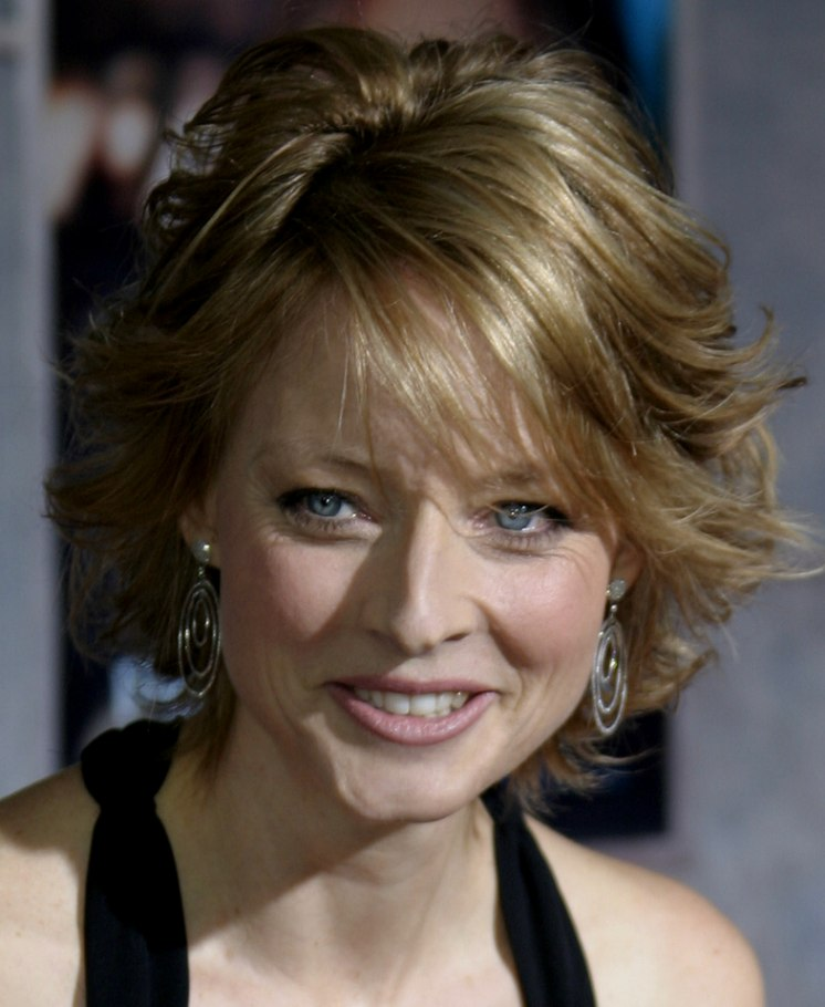 s hairstyles for hair jodie foster medium length hairstyle with layers