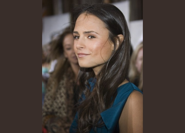 Jordana Brewster's long dark hair with layers
