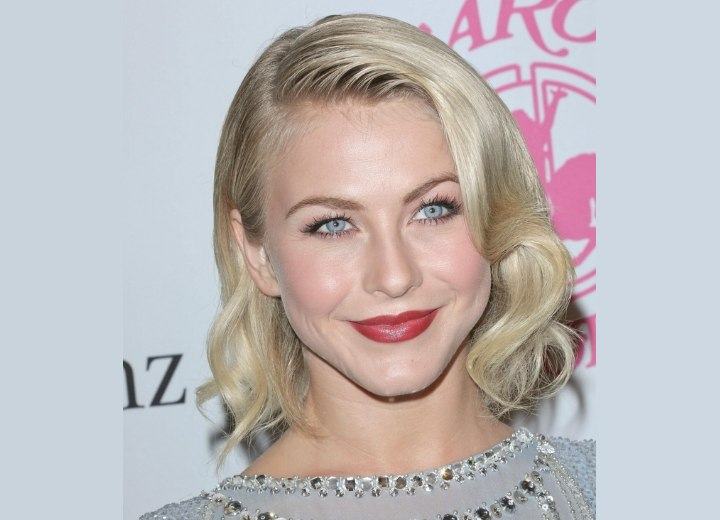 Julianne Hough wearing a medium length vintage hairstyle