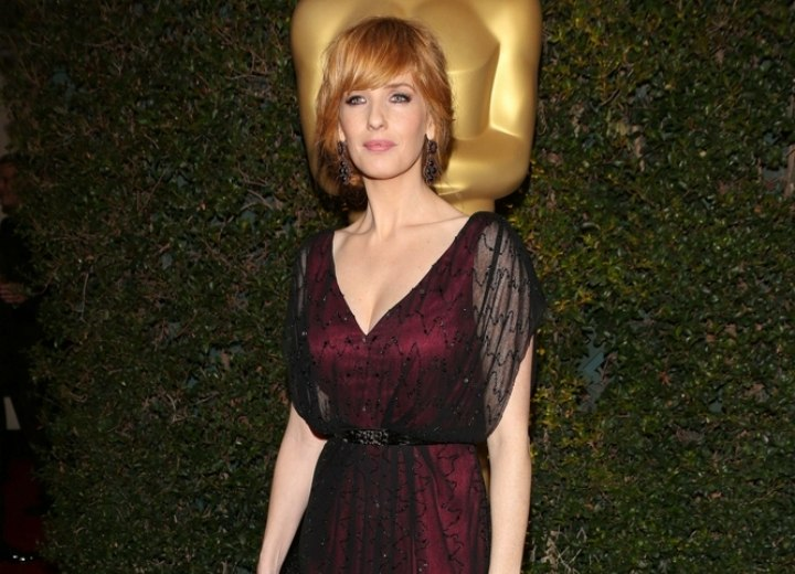 Kelly Reilly - Gown and accessories for a Victorian air