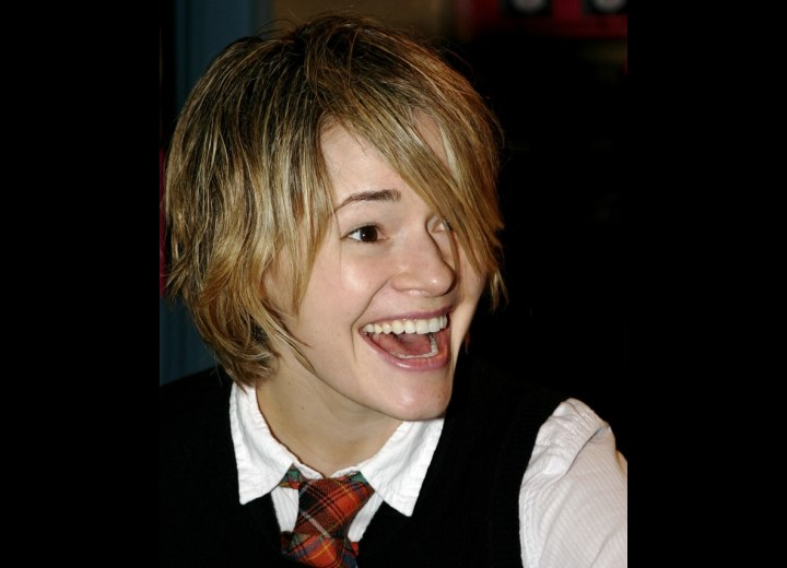 Leisha Hailey's shag haircut