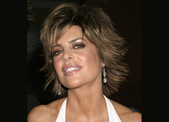 Lisa Rinna with chopped short hair