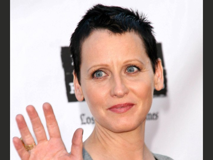 Lori Petty Sporting A Very Short Haircut