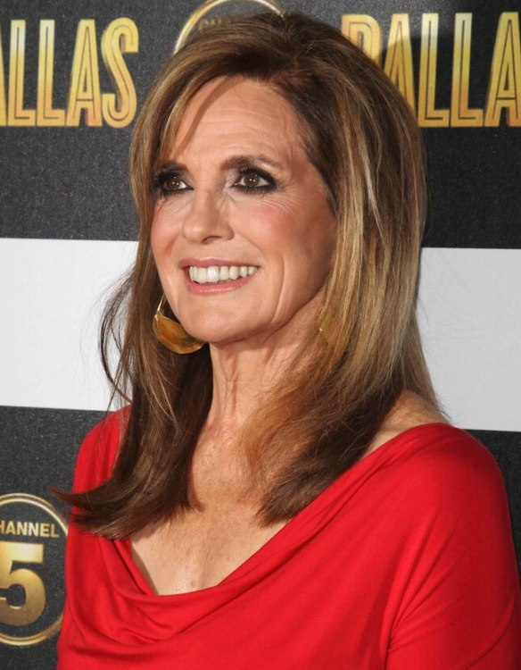 Linda Gray aged over 70 | Long hairstyle for a youthful appearance