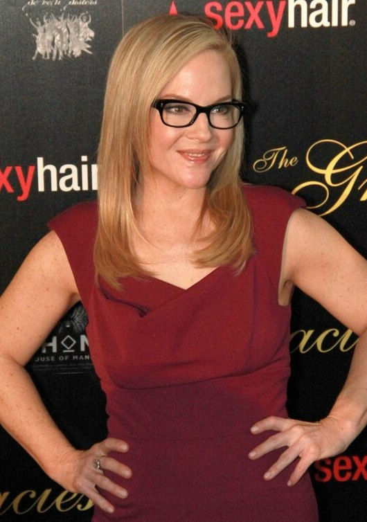 Rachael Harris Wearing Her Hair Past Shoulder Length
