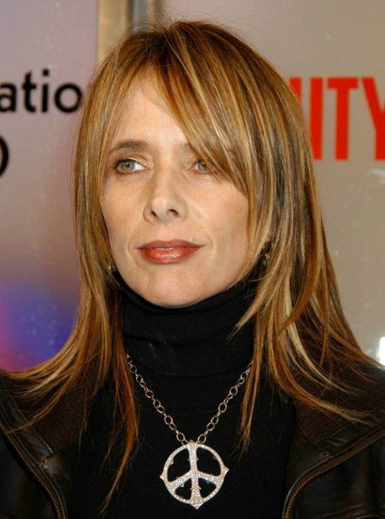 Rosanna Arquette Long Tapered Hairstyle Black