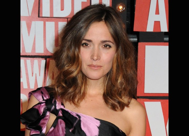 Rose Byrne - Long hairstyle for thick hair
