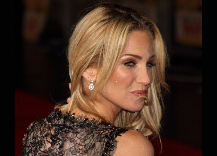 Sarah Harding wearing her hair long