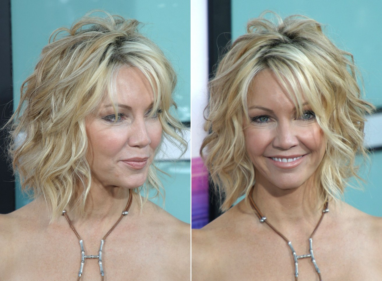 Swell Heather Locklear With Her Hair Short And Cut Into A One Length Bob Short Hairstyles Gunalazisus